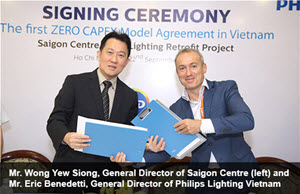 First ZERO CAPEX agreement for LED lighting Retrofits signed in Vietnam