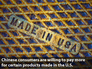 """Made in USA"" label popular in China, too: study"