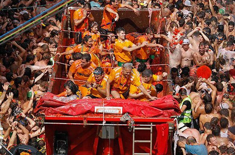 The 66th Tomatina festival in Spain